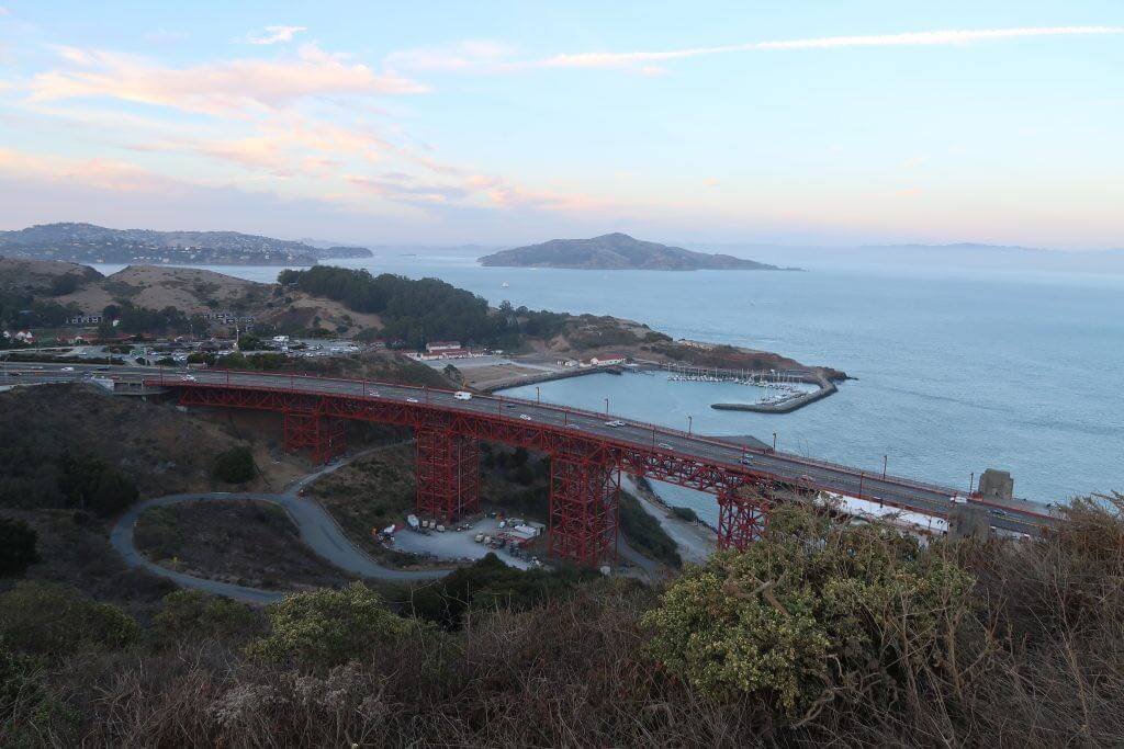 Zufahrt zur Golden Gate Bridge