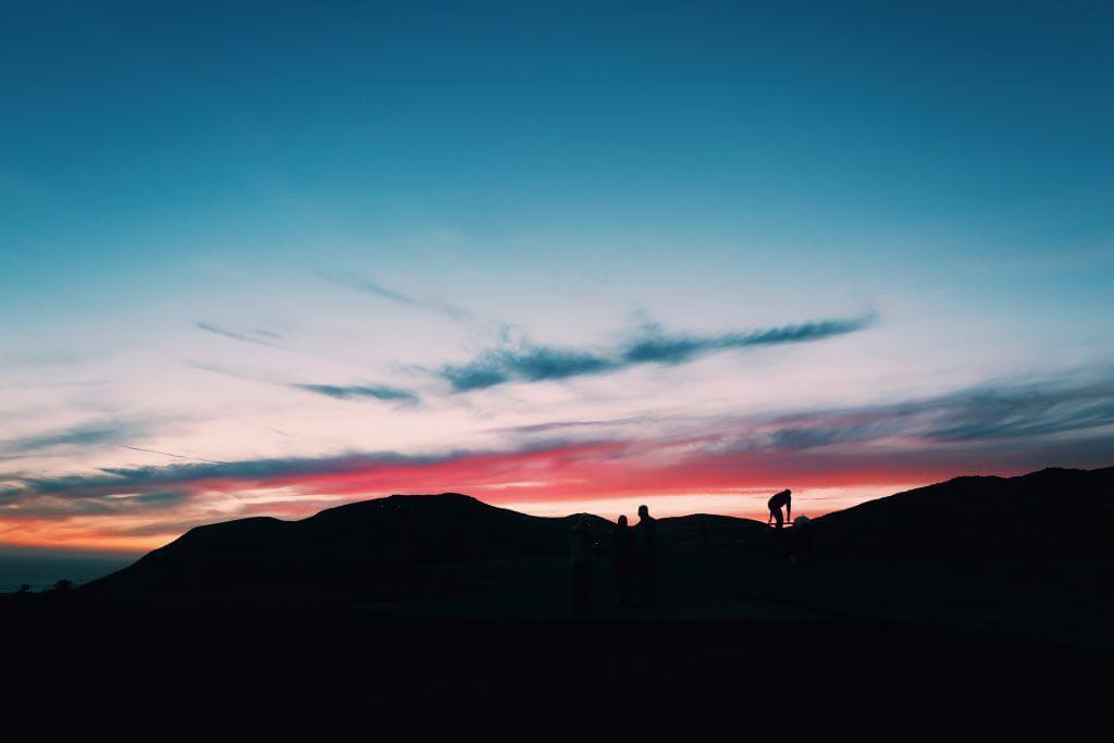 Sonnenuntergang an Marine Lands
