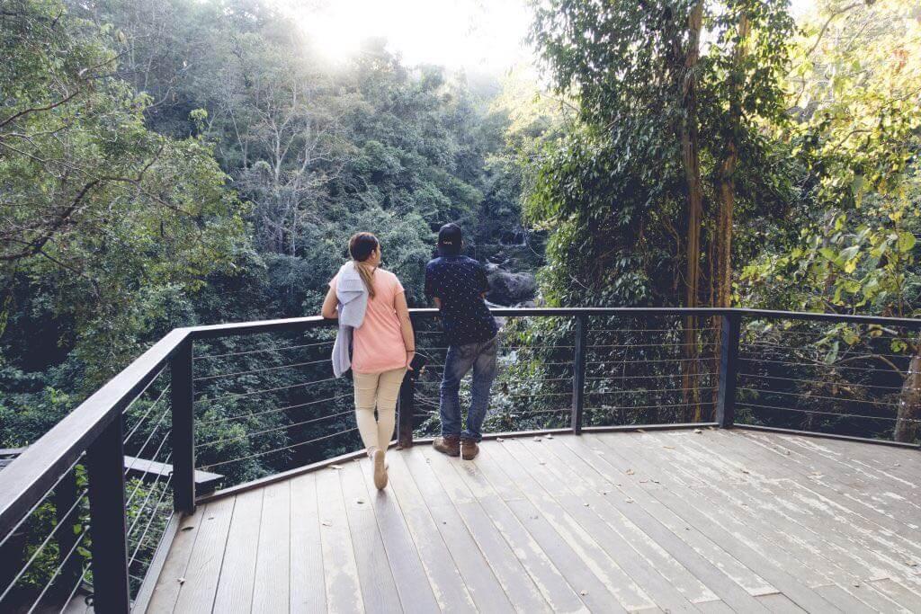 Mae Sa Wasserfall Aussichtsplattform
