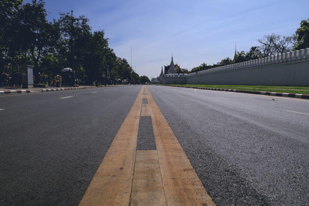 Straße zum Grand Palace Bangkok