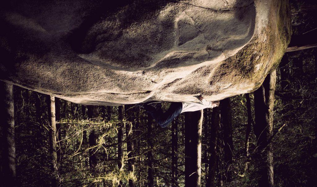 Ich auf Felsen Vancouver Kanada
