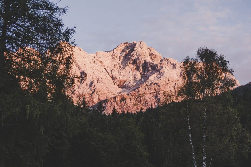 Zugspitze Sonnenuntergang