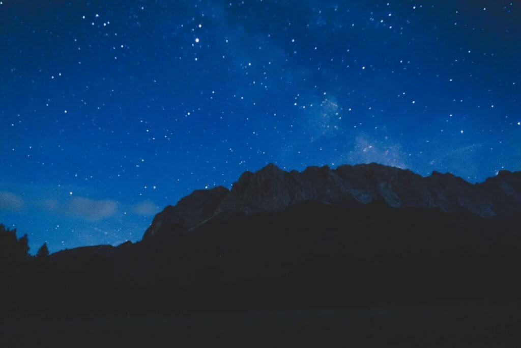 Sternenfoto Zugspitze